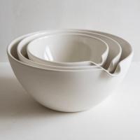 Trouva: Set Of 3 Porcelain Pouring Mixing Bowls