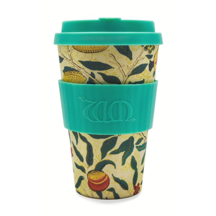 ECOFFEE WILLIAM MORRIS POMME REUSEABLE BAMBOO CUP