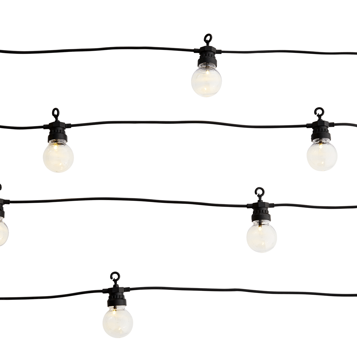 Trouva 8 5m Black Clear Plastic 10 Bulbs Outdoor String Light