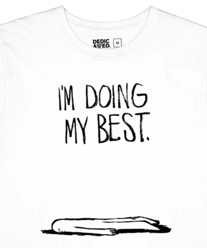 Trouva: White Stockholm Doing My Best Date T Shirt