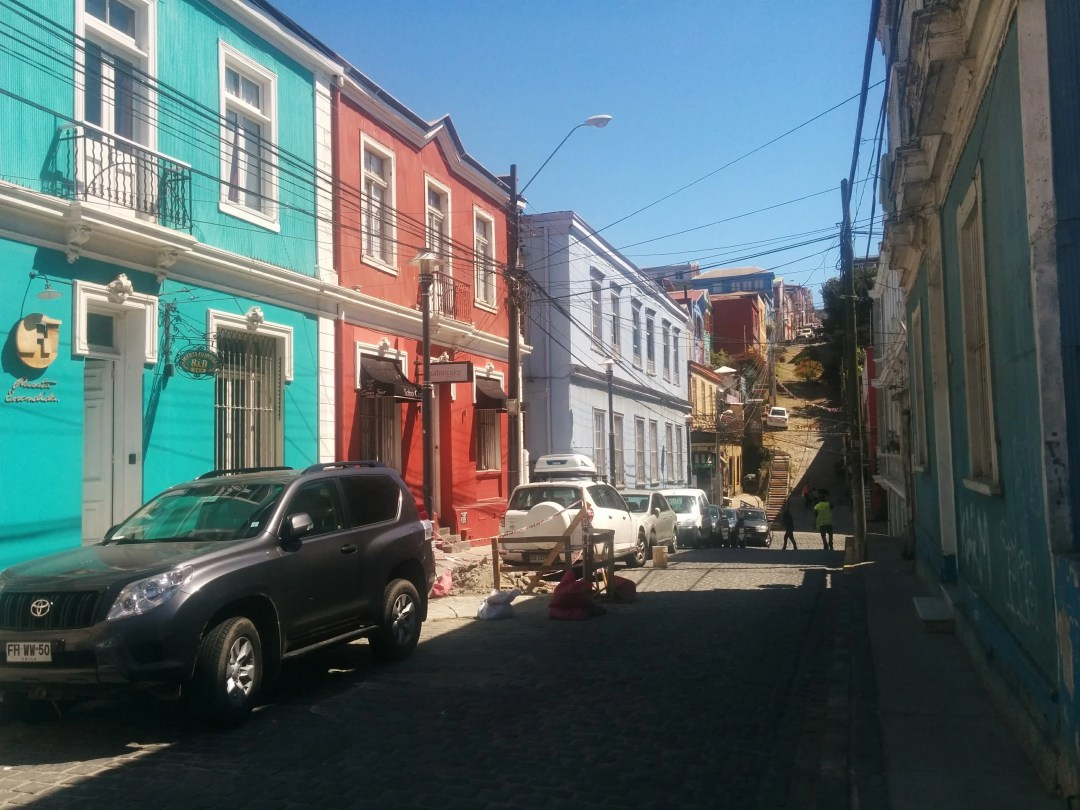 Colorful houses along Templeman