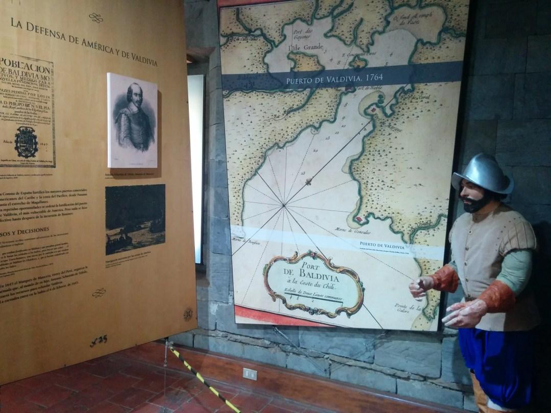 info display in Niebla fort museum