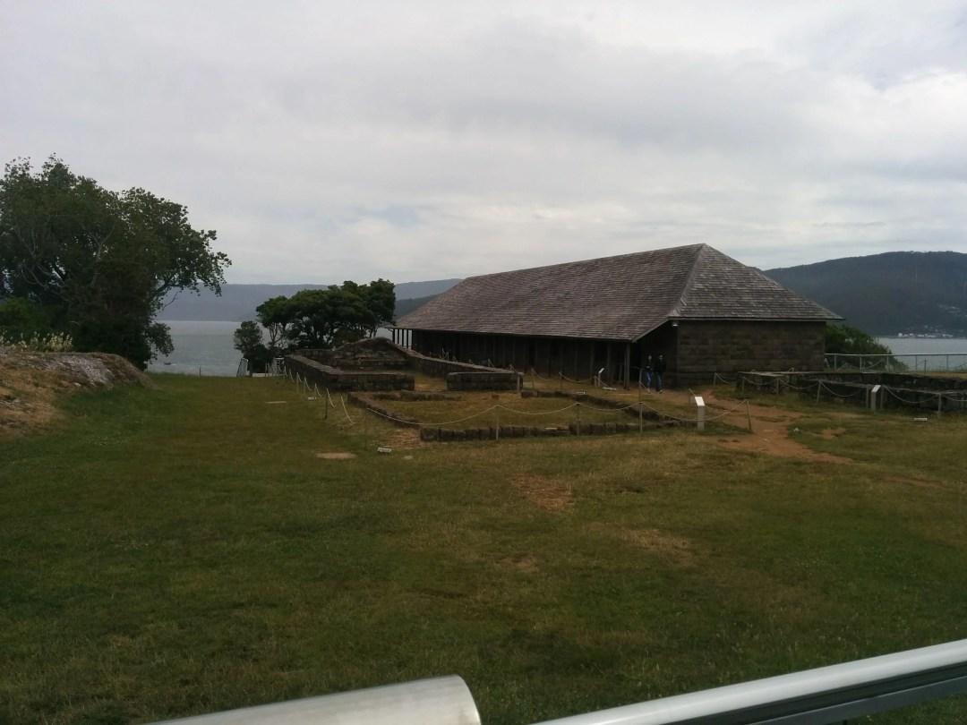 restored building at Niebla fort