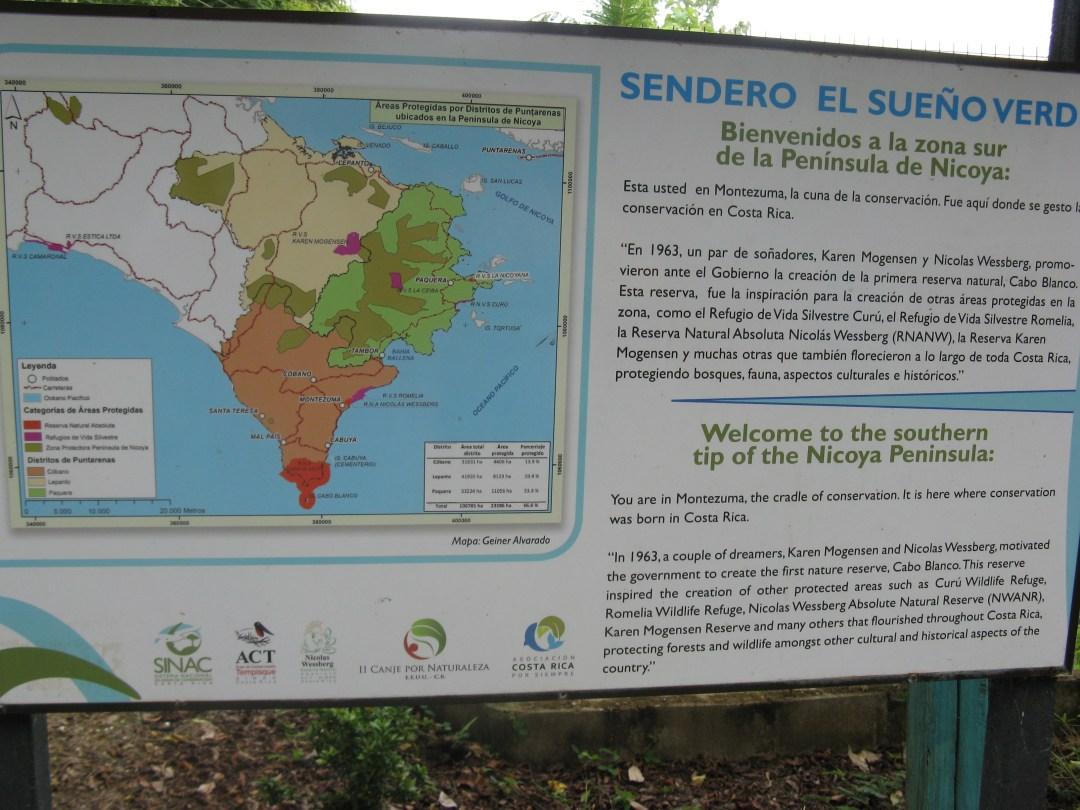 Nicoya Conservation Sign