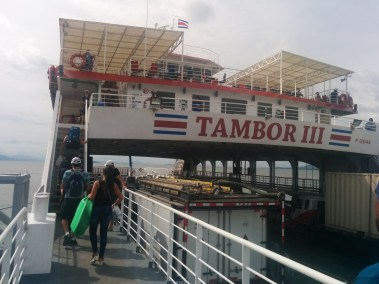 Tamboor III, the ferry to Paquera