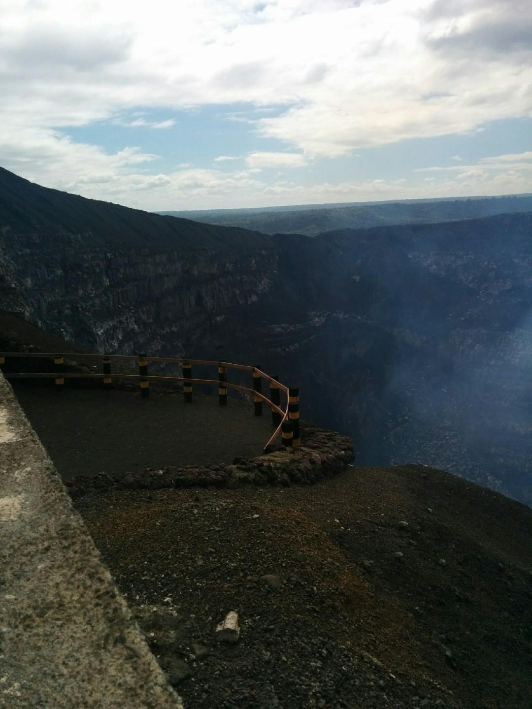 Volcano viewing area