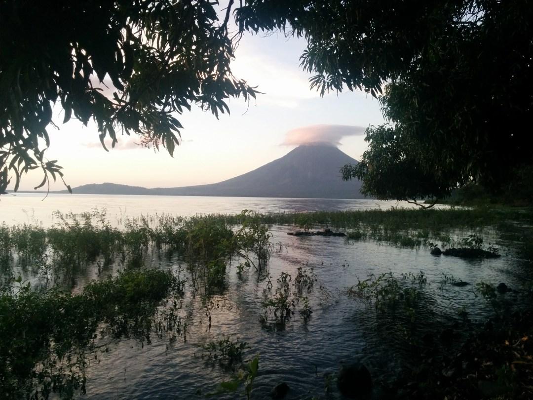 Volcán Concepción from our beach