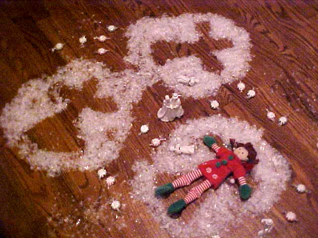 Making snow angels in sugar crytals