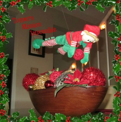 An elf mission impossible stunt
