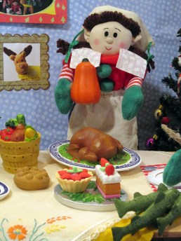 Elf cooking Thanksgiving dinner