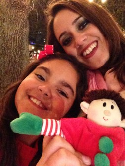 Cute family elf selfie