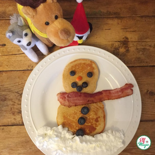 Elves made a pancake snowman