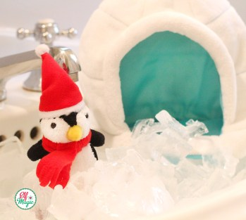 Elf Magic Pom Pom Penguin and his Igloo