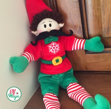 Elf with mustache disguise