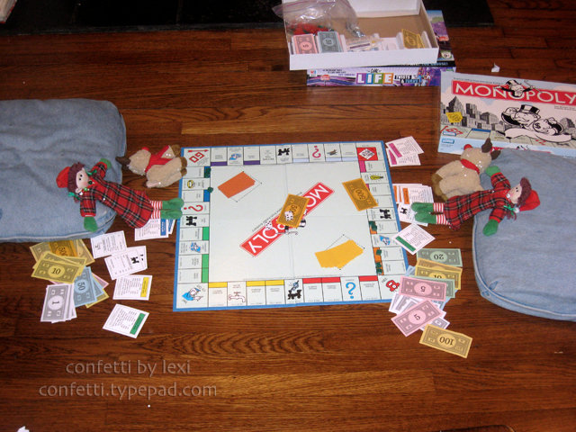 Elves playing Monopoly