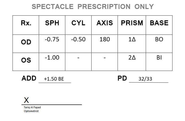 Prescription Sample