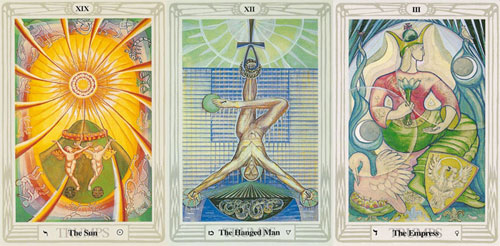 2019 hanged man ritual with the sun and empress