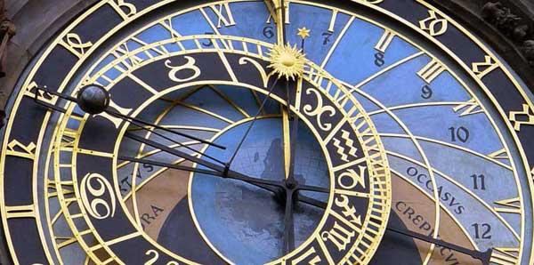 prague clock tarot astrology timing