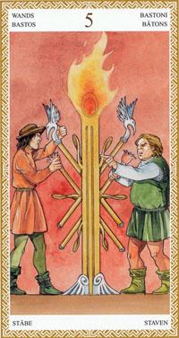 lo scarabeo tarot five of wands