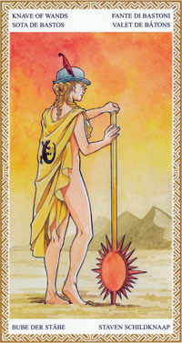 lo scarabeo tarot page of wands
