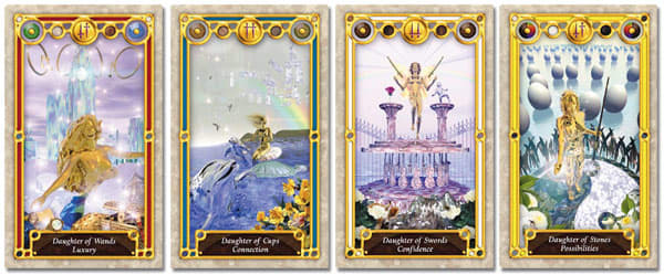 tarot court cards pages, princesses and daughters