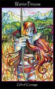 Tarot of the Sidhe Warrior Princess Page of Wands