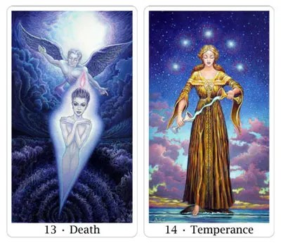 death and temperance from sacred isle tarot
