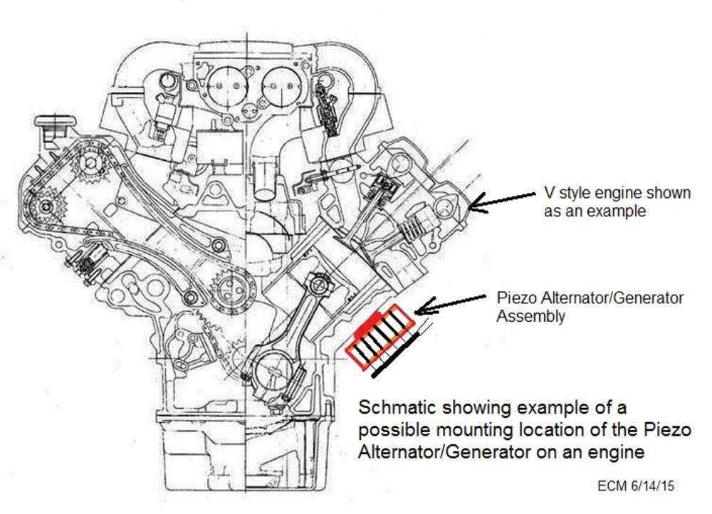 Piezoelectric Alternator/Generator for Improved Fuel Economy