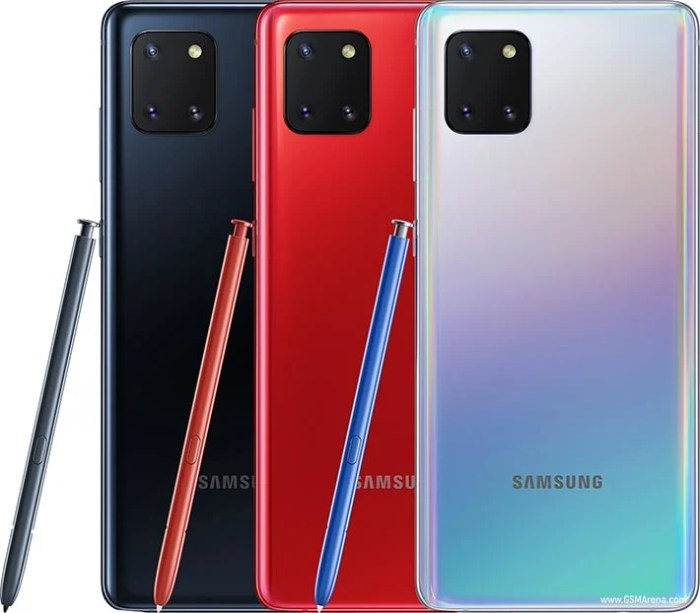 Samsung Galaxy Note10 Lite colours