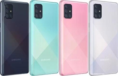 Samsung Galaxy A71 colors