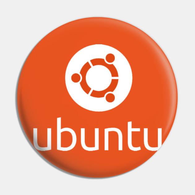 Ubuntu Authentic Logo - Ubuntu Linux - Pin | TeePublic