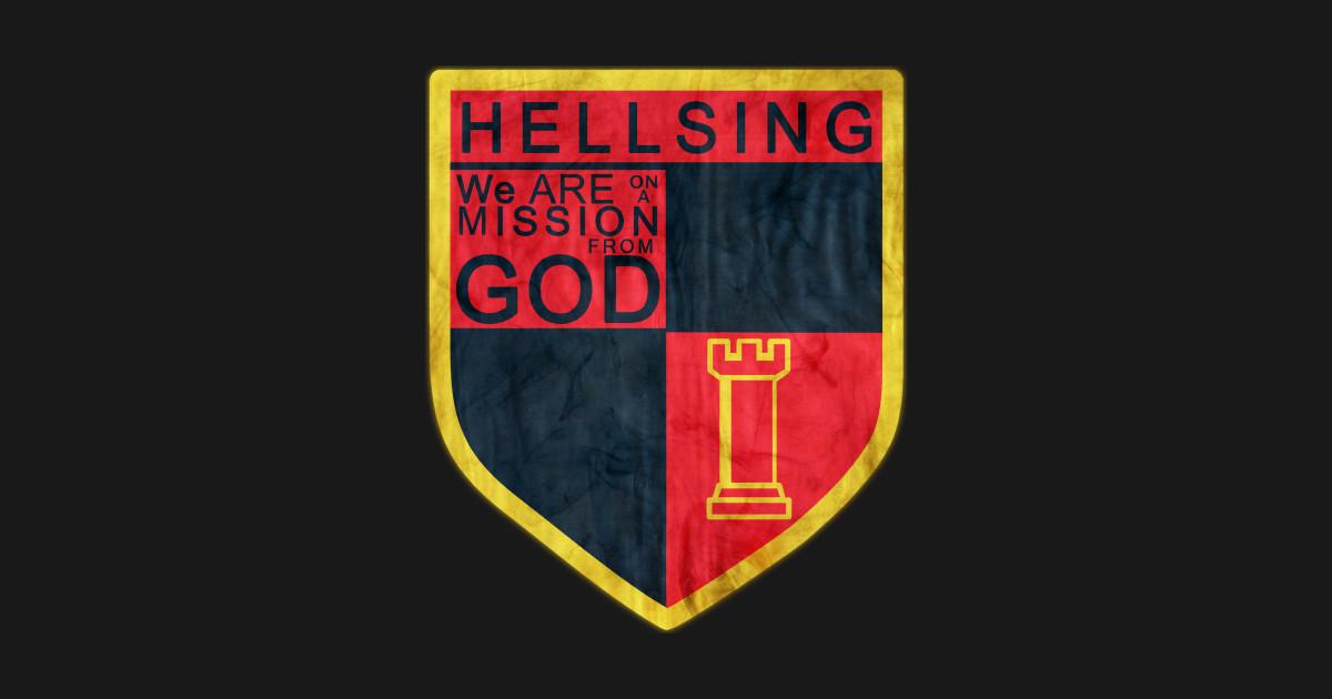 Hellsing logo  Anime  Sticker  TeePublic