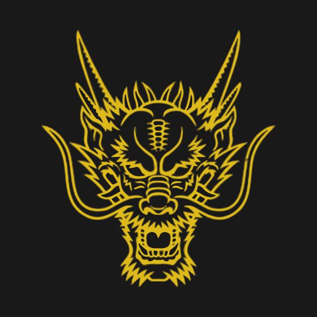 dragon head cool logo