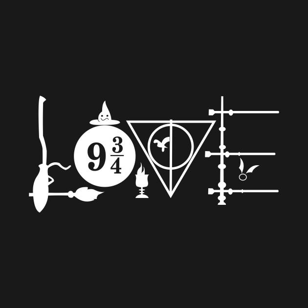 Download Harry Potter love symbol - Harry Potter - Hoodie | TeePublic