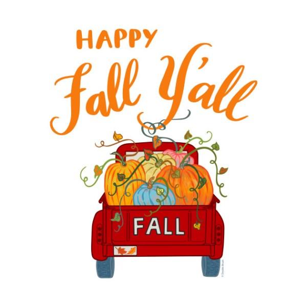 happy fall ' vintage pumpkin