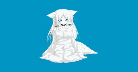 chibi wolf teepublic anime