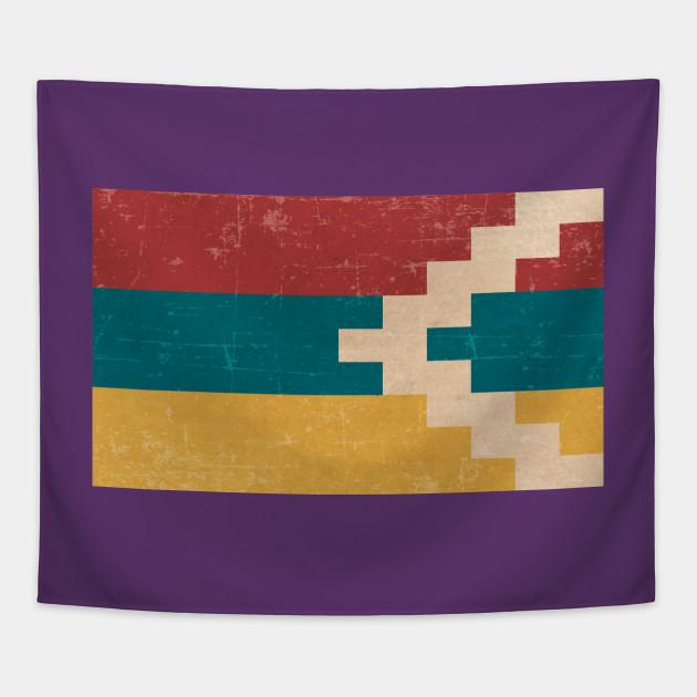 vintage artsakh flag