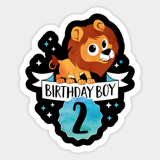 birthday boy lion two