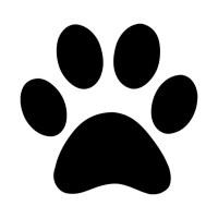 Dog Paw Print Silhouette - Dog - T-Shirt | TeePublic