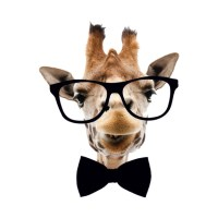 Giraffe-Bow Tie hipster animal - Music - T-Shirt | TeePublic