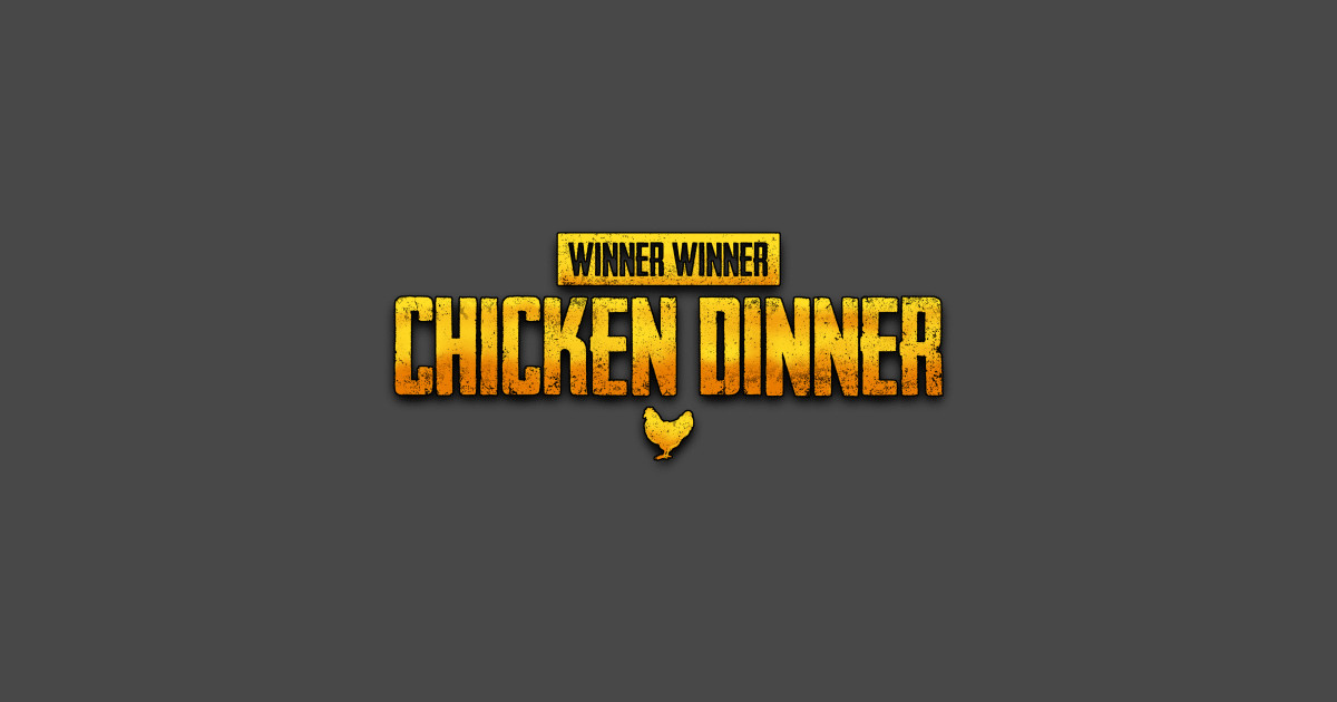 Winner Winner Chicken Dinner Pubg Wallpaper Chicken Dinner Pubg Sticker Teepublic