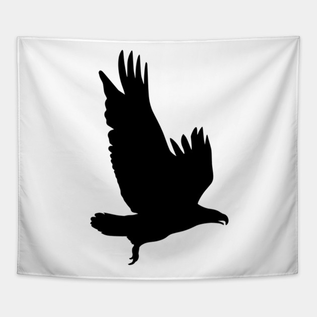 flying hawk silhouette