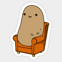 Cute Couch Potato - Couch Potato - Sticker | TeePublic