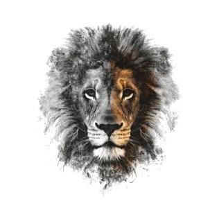 lion face t shirts