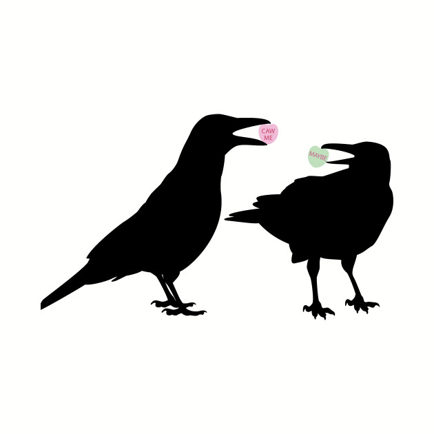 valentine candy heart crows