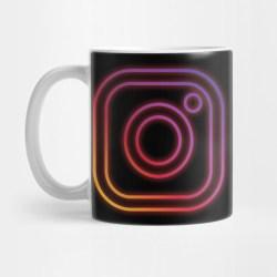 instagram glow mug teepublic