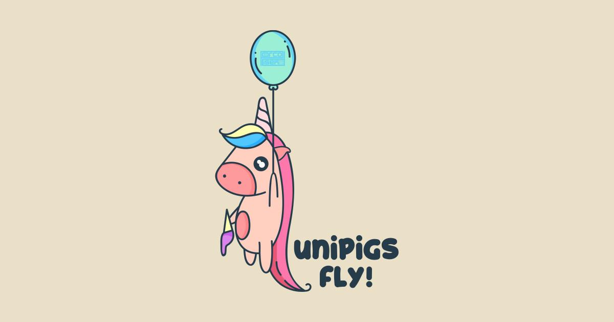 cute balloon unipigs fly