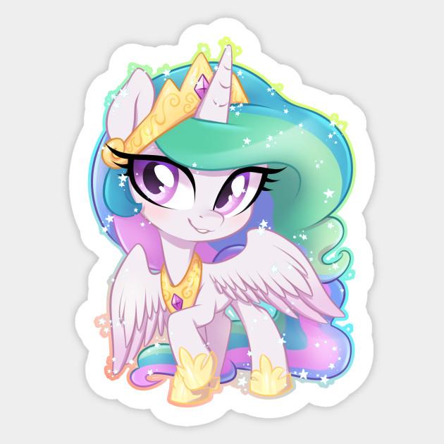 Little Celestia My Little Pony Sticker Teepublic