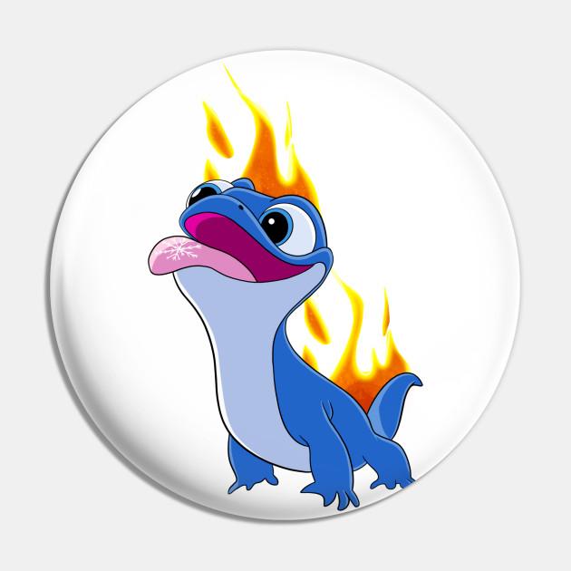 Frozen 2 Bruni Fire Character Bruni Let It Go Frozen Bruni Frozen 2 Pin Teepublic Fr