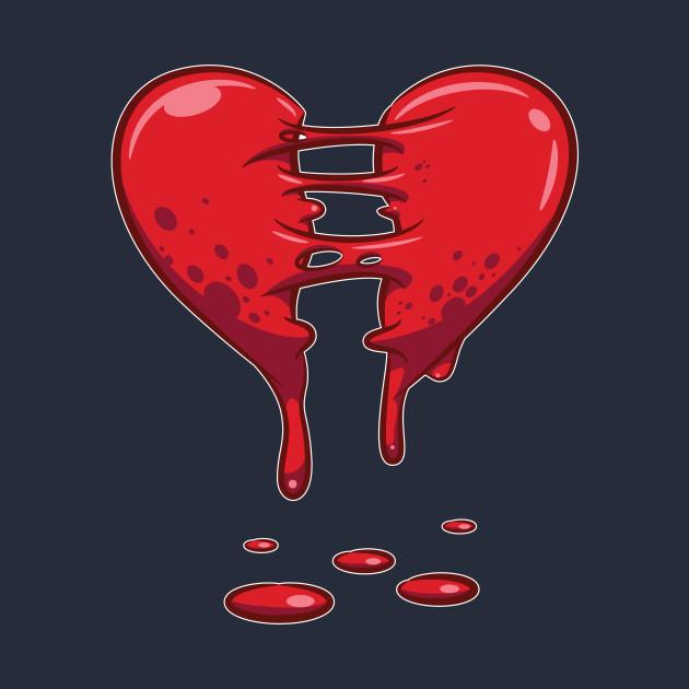 Dripping Broken Healing Heart Valentines Day Dripping